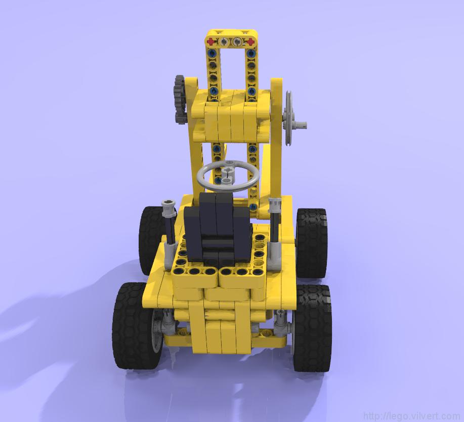 Studless Remake Classic 850 Forklift Muuss Lego