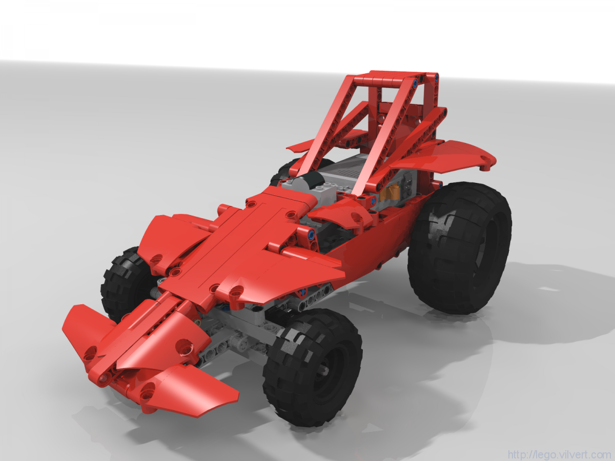 Off-Road Shorted Dragster – Muuss Lego